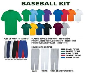 Essortex Two-Button Baseball Jersey Uniform Kits