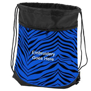 Pizzazz Zebra Print Stringpacks / Sling bags