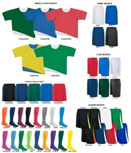 High Five SINGLE LAYER Soccer Jersey Uniform Kits