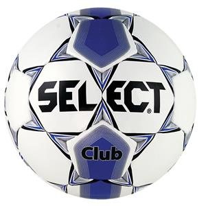 Select Club Soccer Ball White/Royal Blue-Closeout