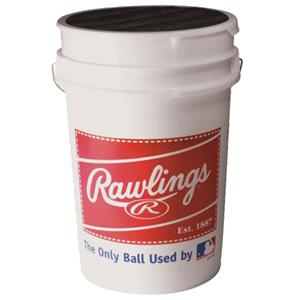 Rawlings Bucket of 36 Practice Baseballs