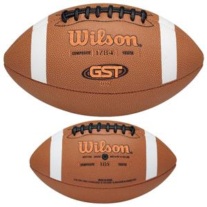 Wilson GST TDY Composite Leather Game Footballs
