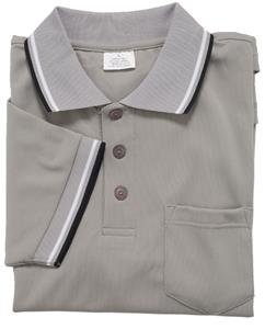 Smitty Umpire Shirt Placket Short Sleeve Gray