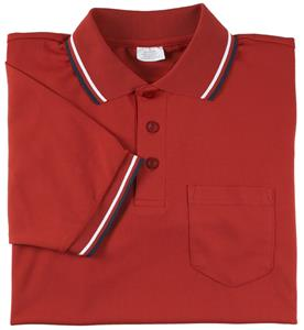 Smitty Umpire Shirt Placket Short Sleeve Red