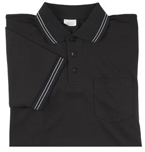 Smitty Umpire Shirt Placket Short Sleeve Black