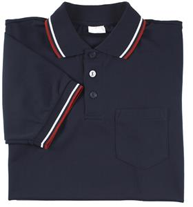 Smitty Umpire Shirt Placket Short Sleeve Navy