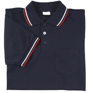 Smitty Umpire Shirt Placket Short Sleeve Navy
