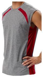 A4 Adult Color Block Performance Muscle Tee