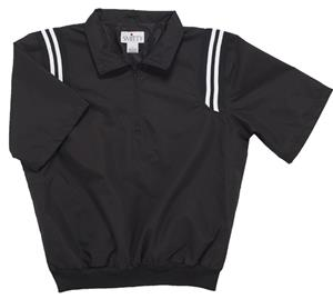 Smitty Black Umpire Jacket Pullover 1/2 Sleeve