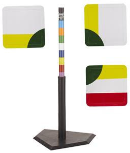Hit-N-Run Base Set with Rainbow Batting Tee