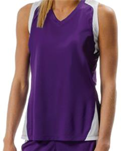A4 Women&#39;s Moisture Management Racer Back Jersey