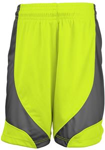 A4 Girl's Moisture Management Color Block Shorts