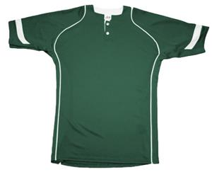 A4 Youth 2-Button Power Mesh Baseball Top