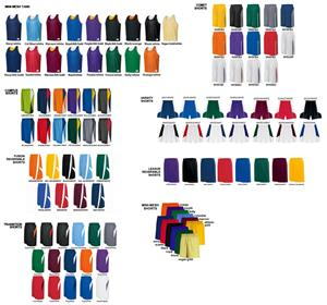 Mini Mesh Reversible Tank Basketball Uniforms Kits
