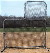 GS L-Shaped Swivel Baseball Pitchers Screen
