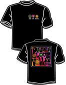 Tandem Sport Volleyball Pop Art Black T-Shirt