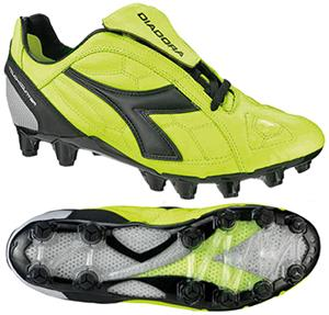 Diadora DD Eleven GX 14 Soccer Cleats-Yellow Fluo