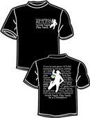 Tandem Sport Volleyball Rules Black T-Shirt