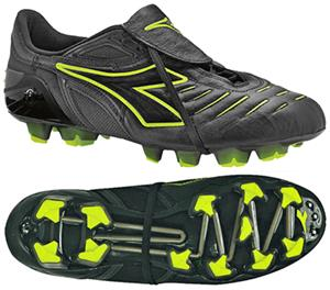 Diadora Maracana RTX 12 Soccer Cleats-Black/Yellow