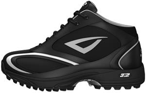 3n2 Momentum Trainer Mid Softball Shoes Black