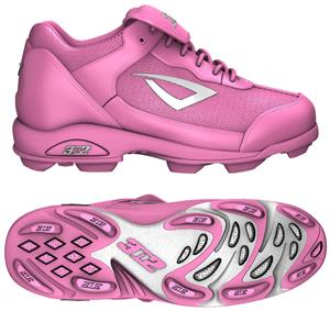 3n2 Rookie Youth Softball Baseball Cleats Pink