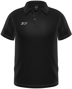 3n2 Loose Fit Wick Performance Polo Shirt Black