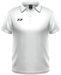 3n2 Loose Fit Wick Performance Polo Shirt White
