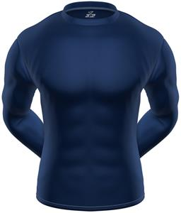 3n2 KZONE Cool Long Sleeve Shirt Tight Fit Navy