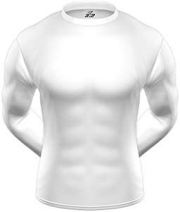 KZONE Cool Long Sleeve Shirt Tight Fit White