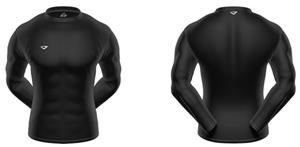 3n2 KZONE Warm Long Sleeve Shirt Tight Fit Black