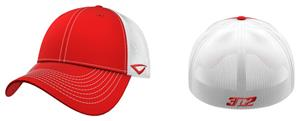 3n2 Flex-Fit Team Trucker Baseball Cap Red