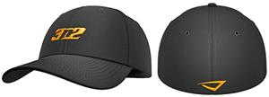 3n2 Flex-Fit 6 Panel Baseball Cap Black/Orange