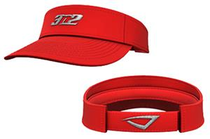 3n2 Low Crown Visor Red