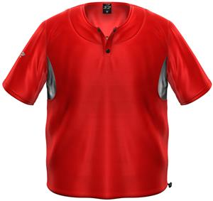 3n2 Short Sleeve Bullpen Baseball Pullover Red