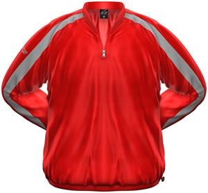 3n2 Rain Pullover Nylon Shell Jacket Red