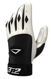 3n2 Spandex Lycra Batting Gloves Black/White