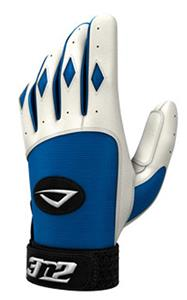 3n2 Spandex Lycra Batting Gloves Royal/White