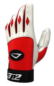 3n2 Spandex Lycra Batting Gloves Red/White
