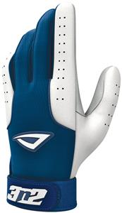 3n2 Sheepskin Leather Pro Bat Gloves Navy/White