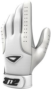 3n2 Sheepskin Leather Pro Bat Gloves White/White