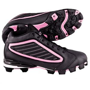 ACACIA Adult Pink Diamond-Mid Softball Cleats