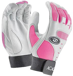 ACACIA Adult Pink Home Run Baseball Batting Gloves