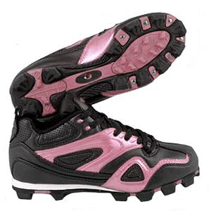 ACACIA Youth Pink Base Hit-Low Softball Cleats