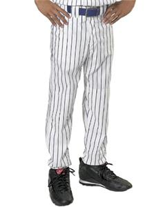 Teamwork Adult Pinstripe Open Bottom Baseball Pant