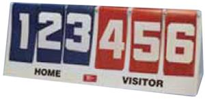 TC Sports 3 Digit Flip-A-Score Scoreboard