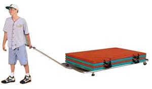 TC Sports Flat Bed Mat Transport Cart - 3 Sizes