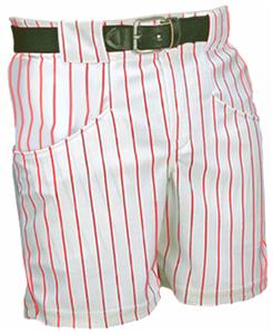 ADULT Pinstripe 14oz Polyester Baseball Shorts