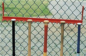 Baseball Softball Hanging Bat Fence Holder Rack