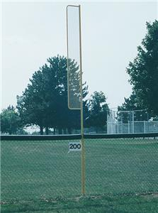 TC Sports Baseball Semi-Permanent Foul Line Post