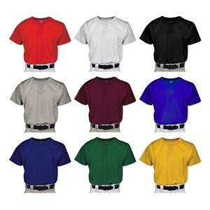 Pro 2 Youth Pro Mesh Two Button Baseball Jersey